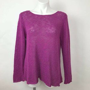 Eileen Fisher Pullover Sweater Knit Long Sleeve L